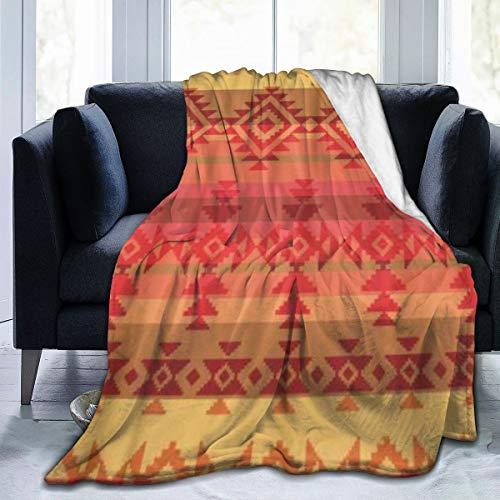 GKGYGZL Couverture de Flanelle Fine et Confortable,Amérindien Traditionnel Indien d'Amérique Aztèque Mexicain Mexique,Couverture de climatisation 60'x80'