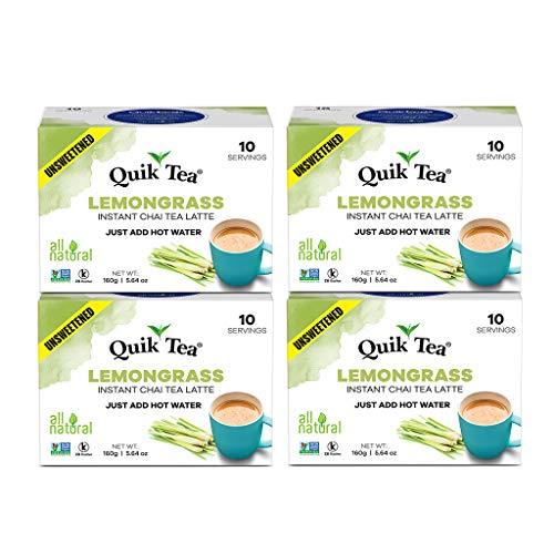 QuikTea Unsweetened Lemongrass Chai Latte (Packaging May Vary)