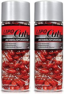 LIPO CUTS Time Release Metabolism Booster - 60 ct Gel Caps | Curb Stress-induced Eating, Improve Mental Focus & Burn Fat | from The Manufacturers of Ab Cuts CLA. 2 Pack- 120 Day Supply
