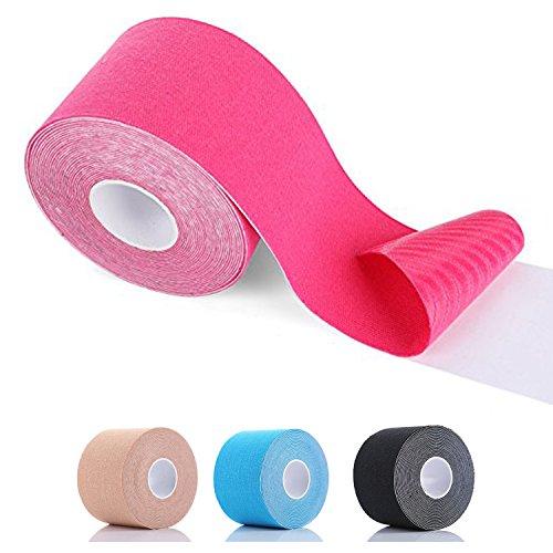 SiaMed Premium Kinesiotape rot 5cm | Kinesiologie Tape Breiten | wasserfest, hautfreundlich, latexfrei & elastisch | Sporttape - Pflaster