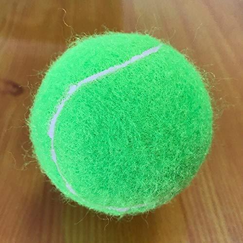 MENGDI Farbiger Tennis-Tennisball aus Gummi mit hoher Elastizität und Haltbarkeit, der für das Training von Schulklubwettbewerben und das Üben von 6er-Packs verwendet Wird-Grün * 6