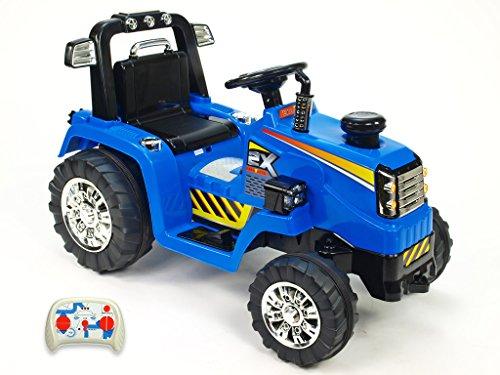 mit R/C Kinderauto Kinderelektroauto Kinderelektrofahrzeug Kinder elektroauto 12V Traktor blau RC