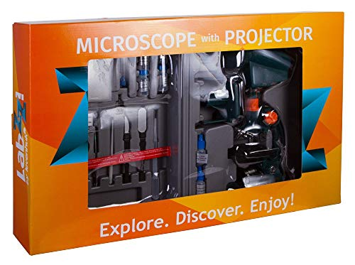 Levenhuk LabZZ M3 Microscope for Children with Projector, Case and 100 Accessories for Scientific Experiments in The Kit