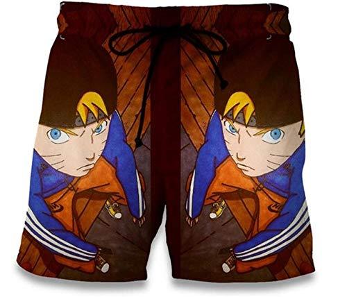 TSHIMEN Shorts Heren Hipster Naruto strandbadshorts Homme Pants Heren sneldrogend joggingbroek zwempak zwembroek 2019 bruin