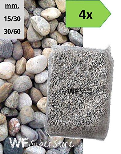 WUEFFE S.R.L. Ciottoli di Torrente - 4 Sacchi da 25 kg - Sassi Fiume Pietre Giardino (15/30)