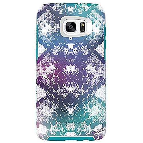 OtterBox Symmetry Series Case for Samsung Galaxy S7 Edge ONLY - Bulk Packaging - Under My Skin (Aqua Blue/Light Teal/Graphic)