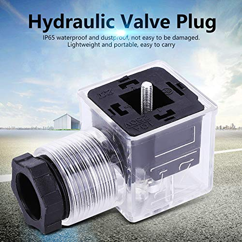 iFCOW 5PCS Hydraulic Solenoid Coil Valve Waterproof Plug with Lamp Transparent Universal AC 110-220V