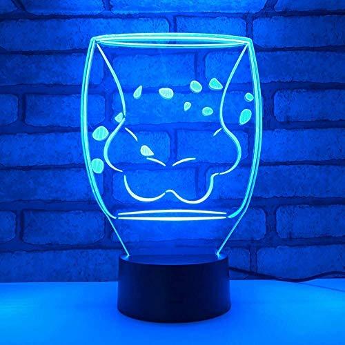 Nette Katze Klaue Glas Tassen 3D Led Licht Cartoon Kaffee Milch Tassen Tasse Nachtlichter für Starbucks Girl Geschenke Drop Shipping