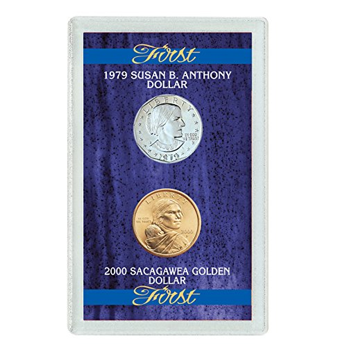 American Coin Treasures First 1979 Susan B. Anthony Dollar and 2000 First Sacagawea Dollar