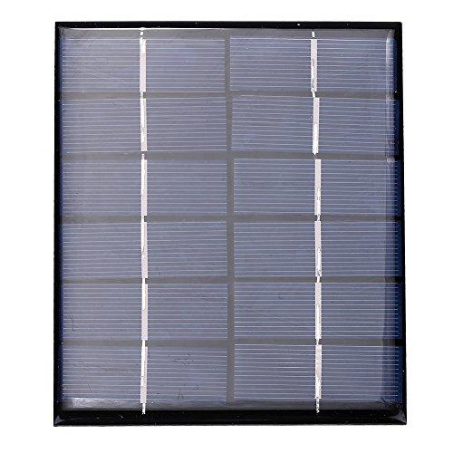 Tnfeeon Panel Solar monocristalino, 3W 6V DIY Kit de Cargador de batería Solar Portátil Mini Epoxi de células solares para energía de batería LED