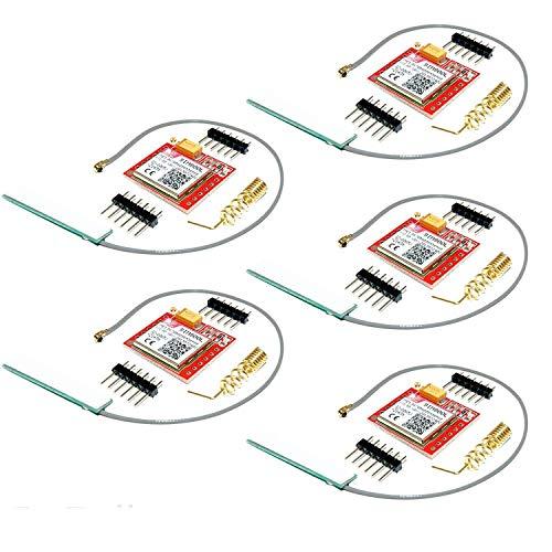 AZDelivery 5 x Modulo SIM800L GSM GPRS con Antena compatible con Arduino con E-Book incluido!