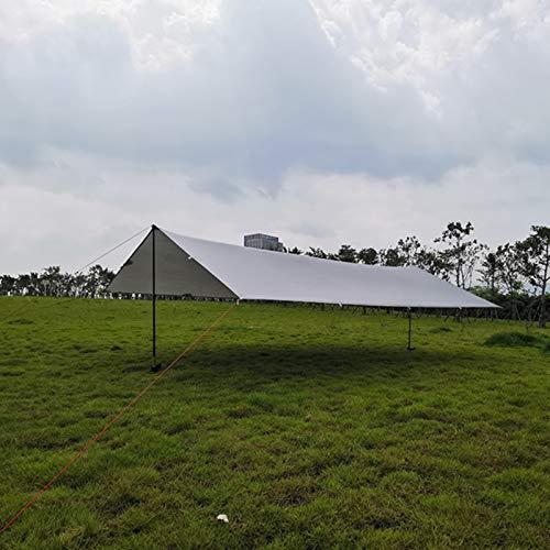Sombra de Vela Solar Tarpa Ultraligera al Aire Libre Acampada Toldo 15D PERGOLA PERGOLA PERGOLA Tienda de Playa a Prueba de Agua Fácil de Usar (Color : Gris, Size : 3x5m)