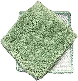 "Janey Lynn Designs Basil Green Shrubbies 5"" x 6"" Cotton Nylon Washcloth"