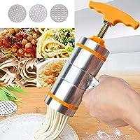 フードモールド スタイル手すり麺プレス機CZ 3の金型家庭用手動小型ステンレス鋼(オレンジ) (色 : オレンジ)