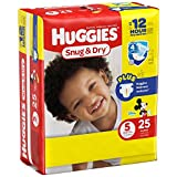 Huggies Baby Diapers, Snug & Dry, Size 5 (Over 27 lbs), 25 ct