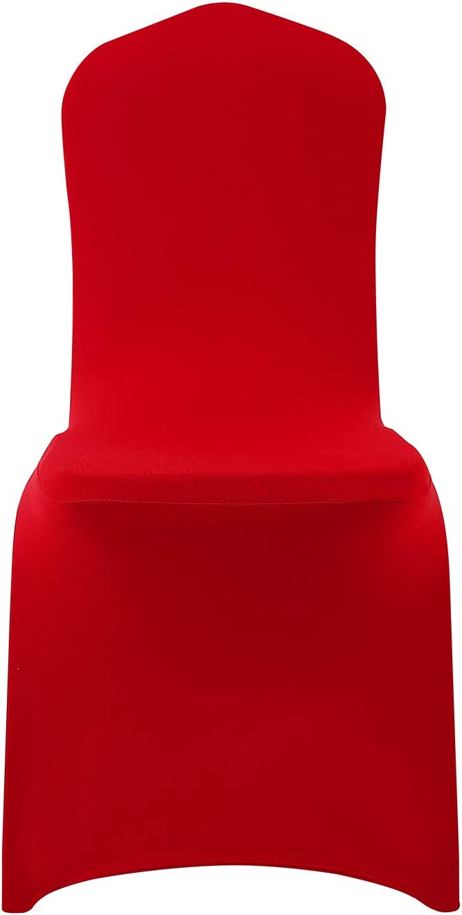 Black, 25 Peomeise Stretch Spandex Chair Cover for Wedding Party Dining Banquet Event