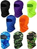 8 Pieces Balaclava Face Cover UV Sun Protection Full Face Covers Unisex Windproof Ski Face Clothing for Cycling Hiking Outdoor Sports (Bright Colors)