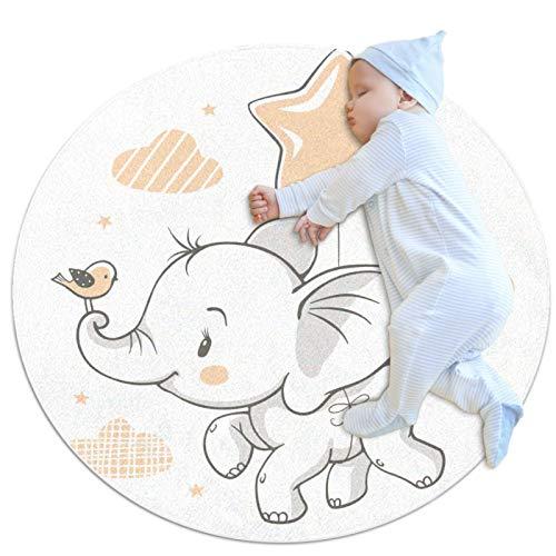 Area tappeto ragazze camera bambini tappeto ruggables lavabile tappeti teen camera da letto tappeto, elefante volante