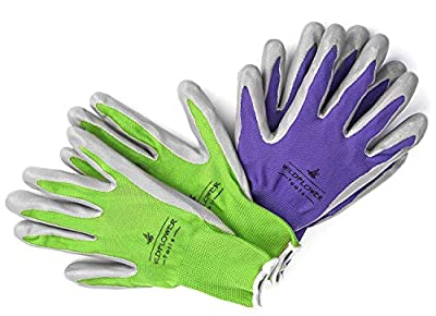WILDFLOWER Tools Gardening Gloves for Women and Men, Nitrile Coating for Protection