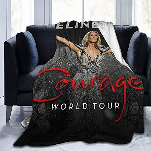 Celine Dion Courage Tour 2019 Couverture ultra douce en polaire pour canapé lit bureau voyage pour adulte 203,2 x 152,4 cm