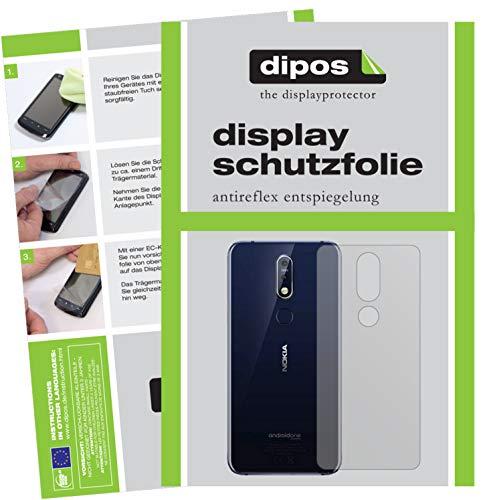 dipos I 6X Pellicola Protettiva antiriflesso Compatibile con Nokia 7.1 Plus Posteriore Pellicola di Protezione
