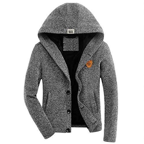 OKJI mannen herfst en winter dikke vest caots Plus dikke fluwelen jas effen kleur