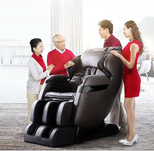 2019 Best Valued Massage Chair by FOREVER REST FR-5KsL Premier Back Saver, L-Track System, SHIATSU, Zero Gravity Massage Chair with Foot Rolling and Built in Heat, Stretch & Swing Mode (Dark Brown)