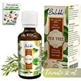 Olio Essenziale Tea Tree + Ebook Incluso • MADE IN ITALY • 100% Naturale per Aromaterapia e Diffusore • Per Imperfezioni Viso come Acne e Brufoli • Capelli Grassi e Fofora • Grado Alimentare 50ml