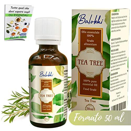 Aceite esencial de Arbol de Té + Ebook Incluido • Tea Tree Origen Australiano • 100% Puro&Natural por Aromaterapia y Difusor • Para Acné y Granos • Cabello Graso y Fofora • Grado Alimentario 50ml