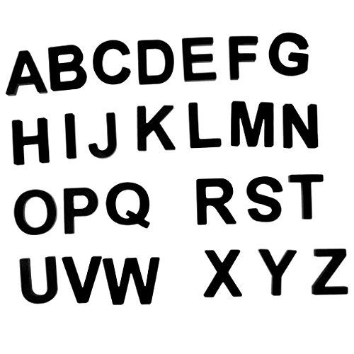 Schwarze Eva Magnetische Zahlen/Alphabet Kühlschrankmagnete Buchstabe für Erziehende Kinder Pädagogische Kleinkinder Spielzeug - Alphabet - L