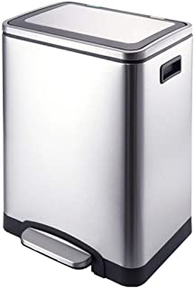 Wastebasket,Classified Kitchen Stainless Steel Trash Can Pedal Home Hotel Living Room Kitchen Bucket Indoor Dustbins 30L Baskets