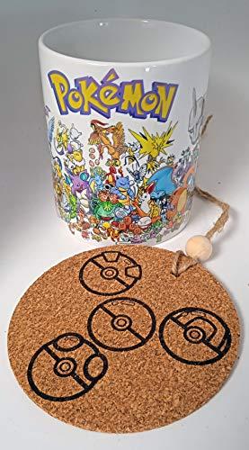 Taza Pokemon 1º Generacion + chapa