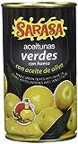 Sarasa Aceitunas Verdes Manzanilla con Hueso en Aceite - Paquete de 12 x 350 gr - Total: 4200 gr