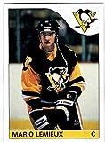 1985-86 Topps #120 MARIO LEMIEUX HOF Rookie RC Penguins REPRINT - Hockey Card. rookie card picture