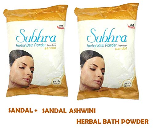 ASWINI SUBHRA HERBAL BATH POWDER SANDAL 200gm Pack Of 2