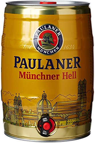Birra Paulaner Münchener Hell - Fustino da 5 Litri con Spillatore