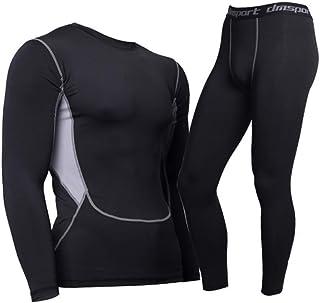 Intima Termica Sportiva T-Shirt Maniche Lunghe /& Pantaloni Invernali FZmix Donna Set Termico