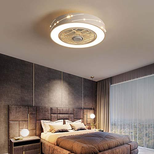 HHGM Ventilador LED Ventilador De Techo LED Luz De Techo con Control Remoto Silencioso Invisible Luz De Ventilador Lámpara De Dormitorio Sala De Estar Jardín De Infantes Habitación De Niños,C