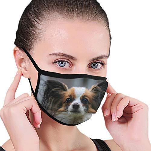 Wrution Papillon Hunde-Mundmaske, Tiermaske, Staubmasken, Filter für Männer, Frauen, Outdoor-Sport, personalisierbar