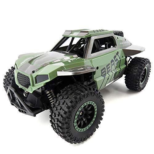 ZZKK Neumáticos Coches de Control Remoto Juguete 1/18 2.4Ghz 20-25Km / H Suspensión Independiente Spring Off Road Vehículo RC Crawler Car