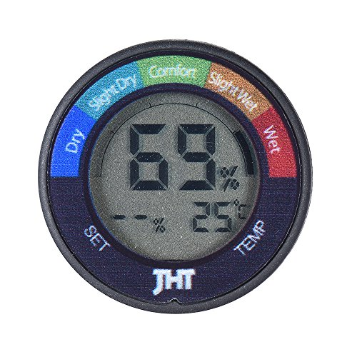 Ammoon - Testeur/capteur d'humidité et de température digital - Thermomètre/hygromètre avec écran LCD pour guitare, piano et violon