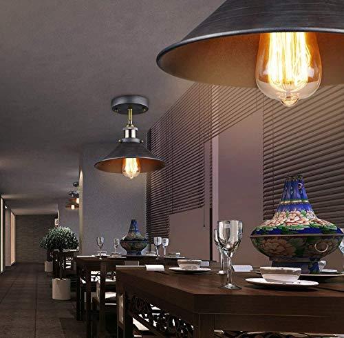 1-licht American Retro industriële stijl smeedijzeren plafondlampen creatief restaurant woonkamer bar balkon gang trappen plafondlamp