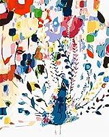 番号でペイントキットDIYブラシアクリル大人ギフト用の初心者の絵あなたの家を飾る40x50cmフレームなし-塗られた孔雀