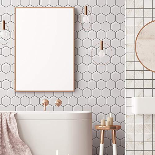 ivAZW Azulejos de Mosaico Adhesivos Pegatinas Impermeable Cocina baño decoración Papel Tapiz Vinilo Resistente al Calor 20 Piezas DJ025 (26x26 cm)