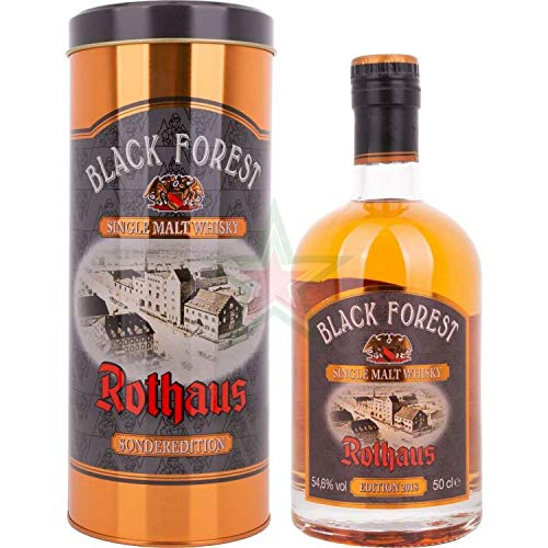 Black Forest Rothaus Single Malt Whisky Banyuls Cask Finish 2018 in Tinbox 54,60% 0,50 Liter
