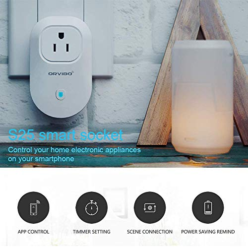 Orvibo Smart Plug Wifi Outlet Works With Google Home & HomeMate and Mostly Smart Home Devices,Voice...
