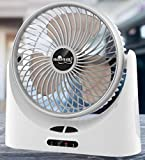 BALIRAJA Strong Airflow with 3 Speeds, Quiet Operation, Portable USB Desk Table Rechargeable Fan...