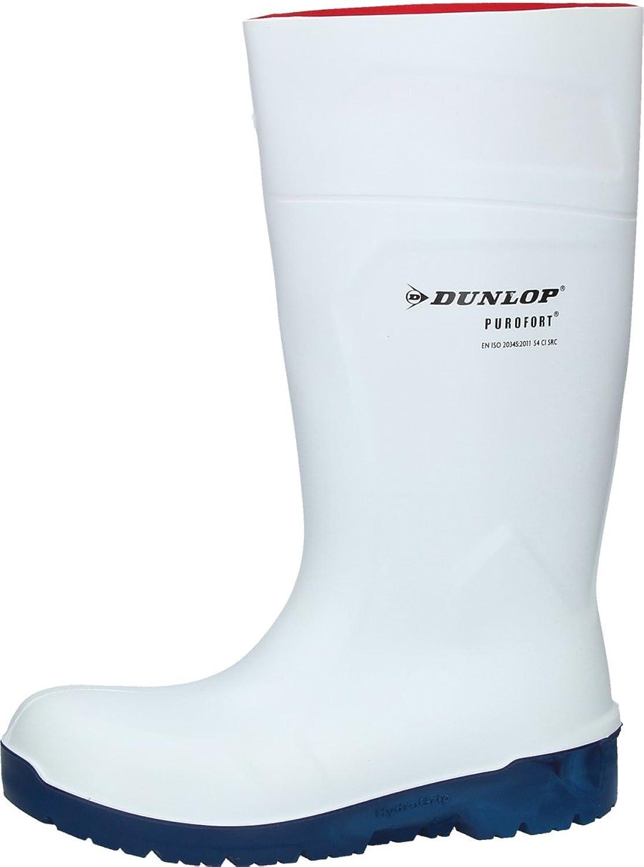 Dunlop Purofort White Hydro Grip Safety Work Wellington Boots