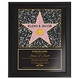 Star Of Fame zur Hochzeit – Hollywood Stern – Urkunde - Personalisiert mit Namen und Datum -...
