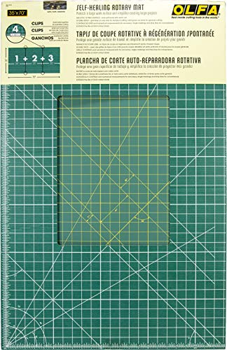 OLFA 35x70 Cutting Mat, Green